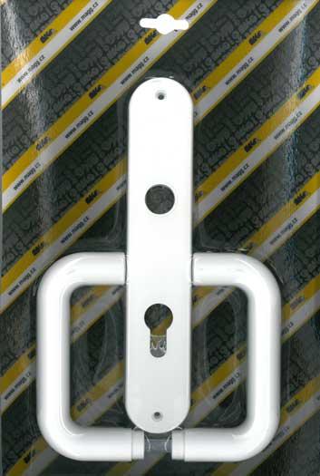 Műanyag ajtókilincs, 72, FAB STANDARD, fehér Y0108