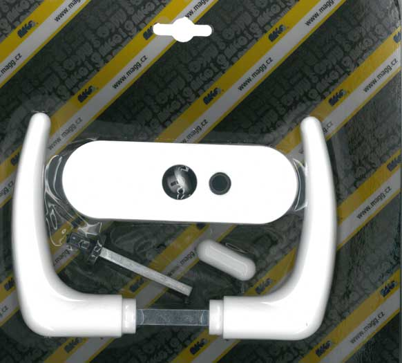 Műanyag ajtókilincs, szobaajtóhoz KLASIK, fehér Y0252