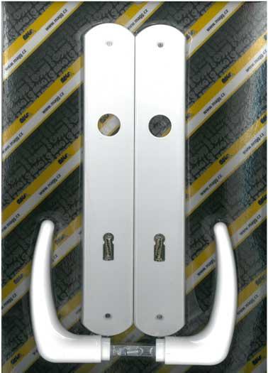 Műanyag ajtókilincs, KLASIK 90 XXL fehér Y0436