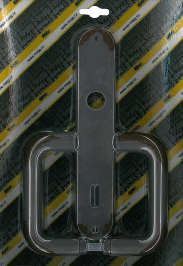 Műanyag ajtókilincs, 90, STANDARD, barna Y0917