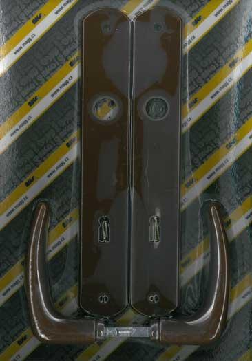 Műanyag ajtókilincs, KLASIK 90 XXL barna Y1211