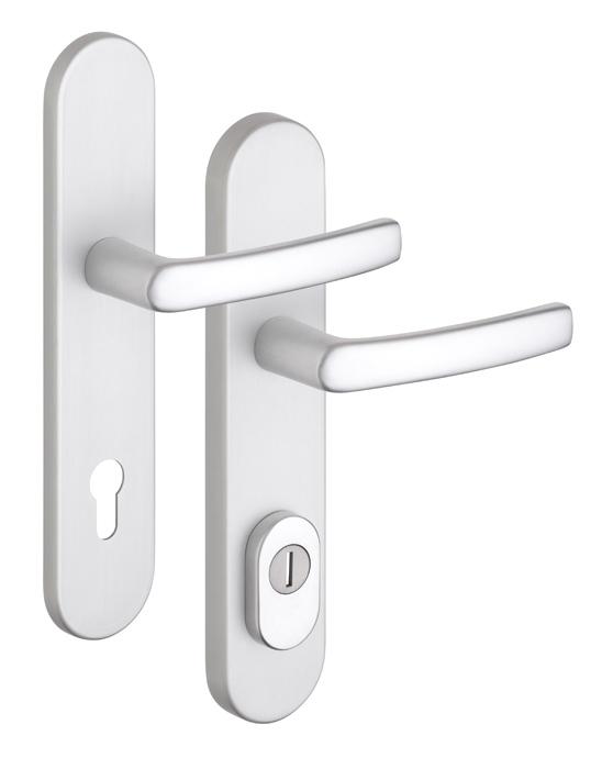 ROSTEX – biztonsági ajtó kilincs BK EL4 / 90 F1, betét nélkül RX4030802501