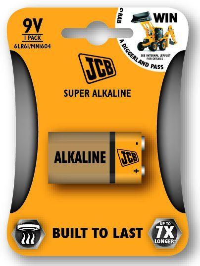 JCB SUPER alkalikus elem 6LR61 / 9V, blister 1 db/csomag JCB-6LR61-1B