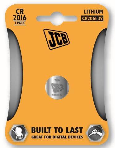 JCB lítiumos gombelem CR2016, blistr 1 ks JCB-CR2016-1B