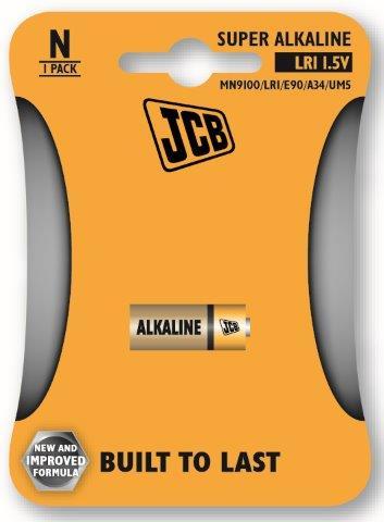 JCB alkalikus elem LR1, 1 db/csomag JCB-LR01-1B