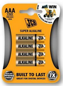 JCB SUPER alkalikus elem AAA / LR03, 4 db/csomag JCB-LR03-4B