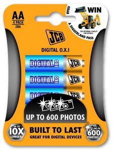 JCB OXI DIGITAL alkalikus elem AA / LR06, 4 db/csomag JCB-LR06OXI-4B