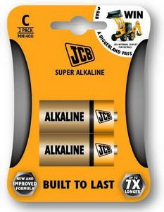 JCB SUPER alkalikus elem C / LR14, 2 db/csomags JCB-LR14-2B