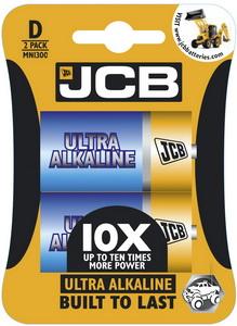 JCB OXI ULTRA alkalikus elem D / LR20, 2 db/csomag JCB-LR20OXI-2B