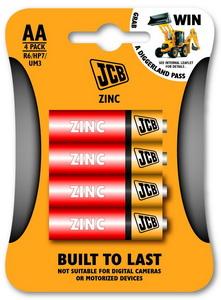 JCB cink-klorid elem AA / R06, 4 db/csomag JCB-R06-4B
