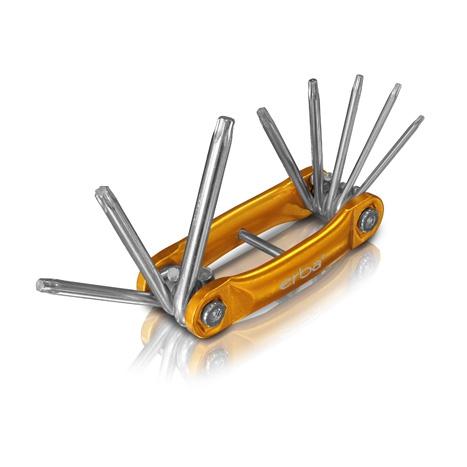Erba kerékpáros összecsukható torx kulcs készlet 8 részes bicska T9-T10 46018