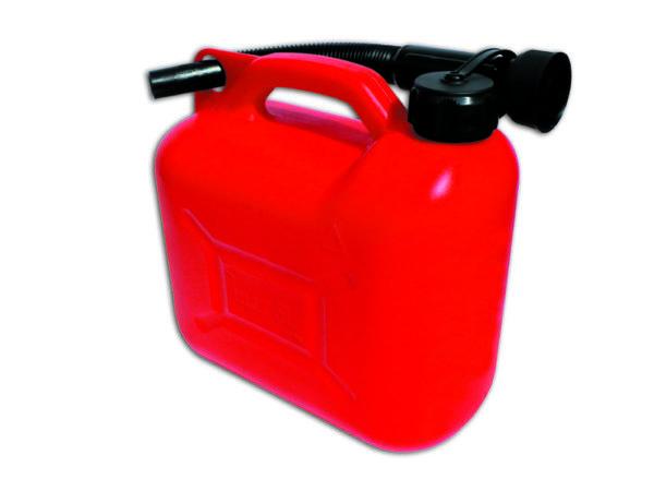 Műanyag üzemanyag kanna benzines kanna rugalmas kiöntővel 5L 03-06007