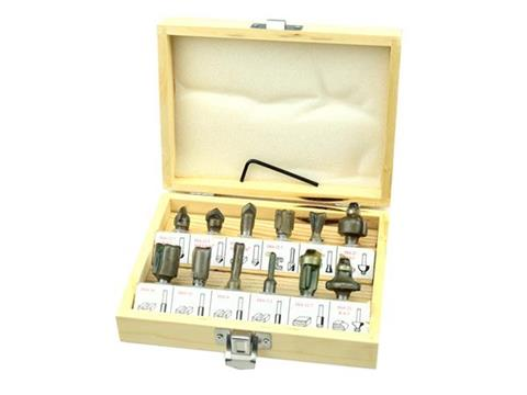 Geko faipari marófej készlet felsőmaró profilmaró készlet 8mm 12 részes G01200