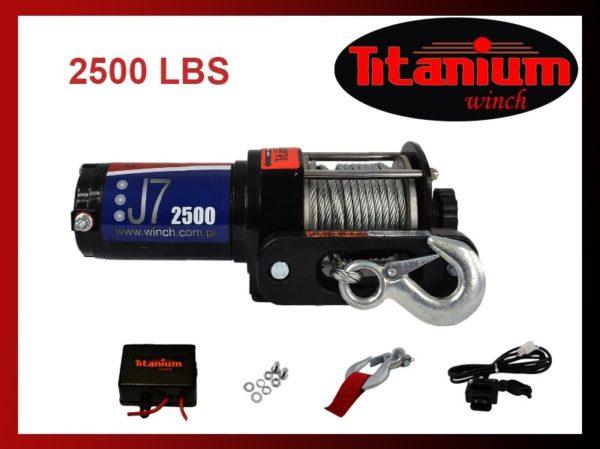 Titanium csörlő emelő 12 V J7 2500 LBS 1135 kg kormánykapcsoló 55601