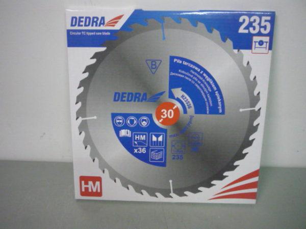 Dedra karbidos vídiás körfűrészlap vágótárcsa körfűrész lap fához 235×30 36 fogas H23536