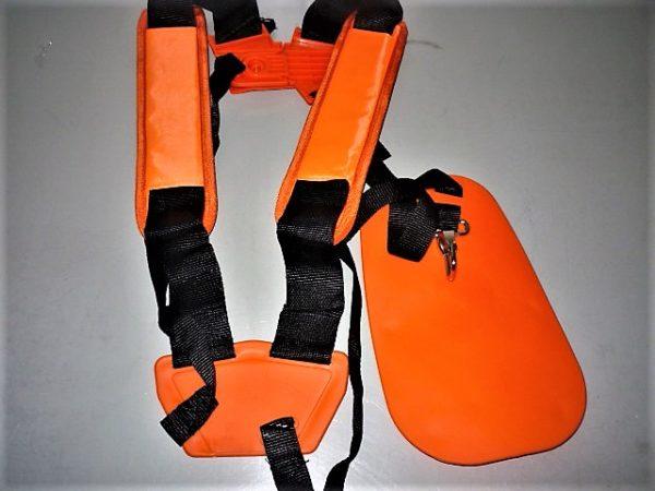 Fűkasza bozótvágó heveder vállpánt hám kétvállas narancs csúsztatható vállú FKVPH2