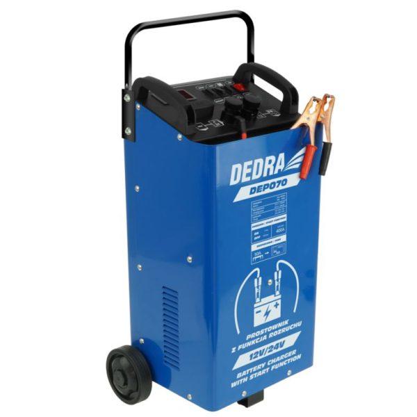 Dedra akkumulátor töltő akkutöltő indító bikázó 12/24V 400Ah 42A DEP070