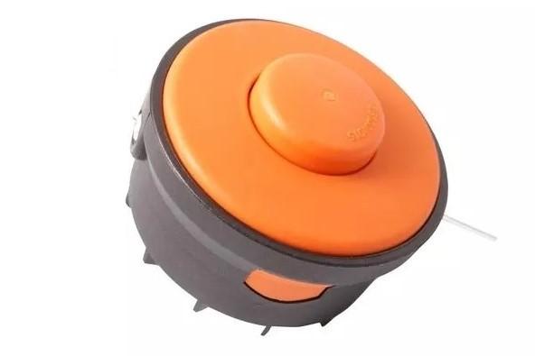 Elektromos fűszegélyvágó szegélynyíró damilfej damil fej félautomata narancs 73mm 10001