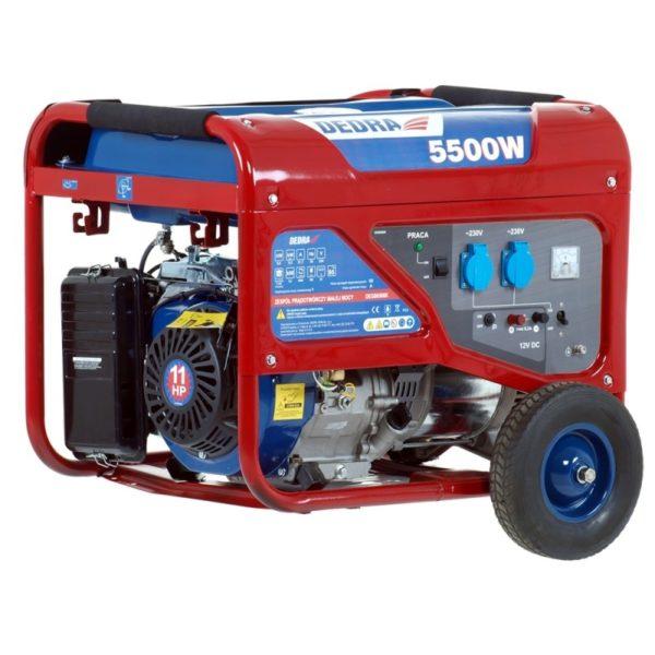 DEDRA benzines áramfejlesztő generátor aggregátor 5kW max. 5.5kW 8.3A DEGB6500K