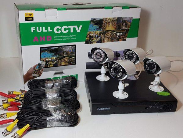 FULL CCTV AHD biztonsági kamera megfigyelő rendszer 4db kamerával FCCTVAHD4CAM