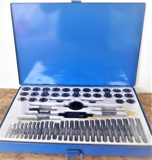 Menetvágó és menetmetsző készlet menetfúró 60 részes metrikus és coll méretek MM60R