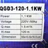 """Grasspro csőszivattyú mélykút szivattyú 1.1 KW 1"""" GRSP120-1.1"""