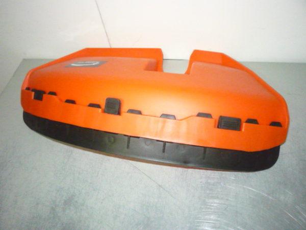 Fűkasza damilfejvédő burkolat szórásvédő 28 mm-es szárhoz narancs FKSZRVD28MM
