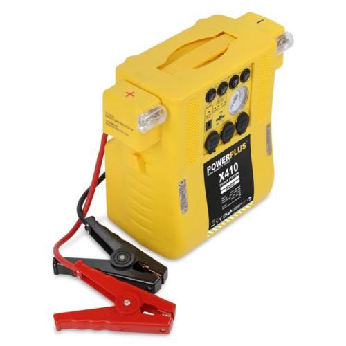 Power Plus sárga gyorsindító kompresszorral POWX410DS