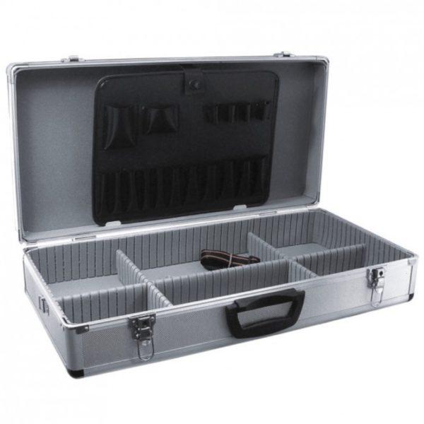 Dedra Alumínium bőrönd 640x325x150, ezüstszínű N0007