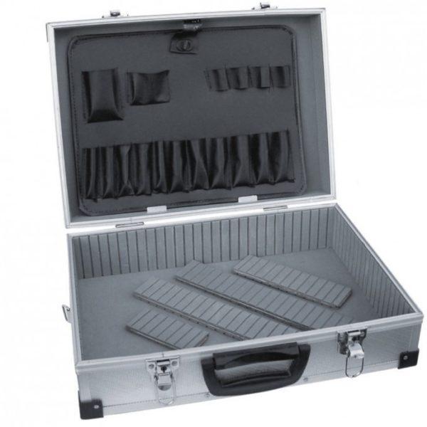 Dedra Alumínium bőrönd 460x325x150, ezüstszínű N0001
