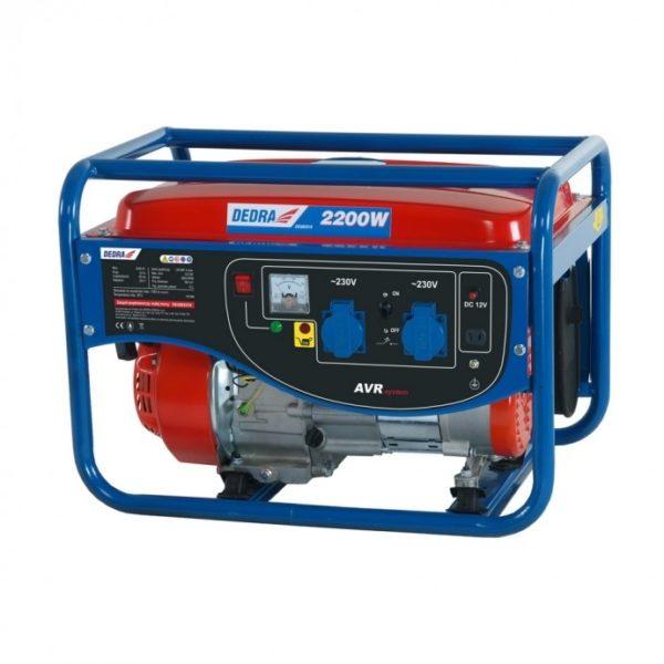 Dedra Áramfejlesztő generátor 2,0kW, max.2,2kW, 2x220V, 1x12V, 8,3A, DEGB2510