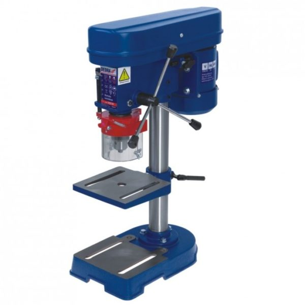 Dedra Asztali fúrógép, 0,35kW, 5 sebességi fokozat, maximális fúrúmélység 50mm, gépmagas DED7707