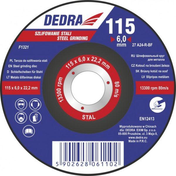 Dedra 115×6,0x22,2 acélra F1321
