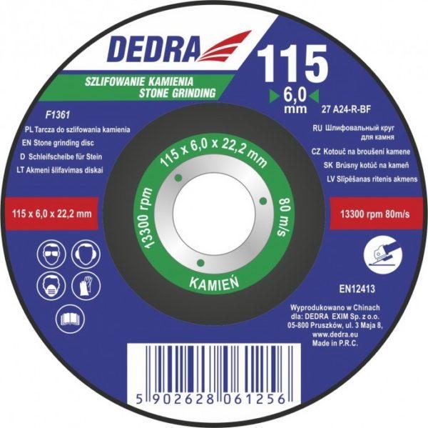 Dedra 115×6,0x22,2 kőre F1361