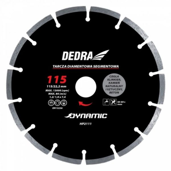 Dedra Gyémánt csiszolótárcsa 125mm/22,2mm Dynamic HP2112