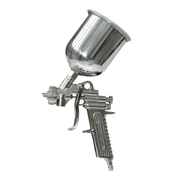 Dedra Festékszóró pisztoly, felültöltős, fém tartály A532062
