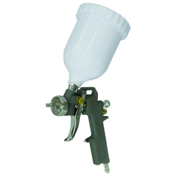 Dedra Festékszóró pisztoly, felültöltős, PVC tartály A533060