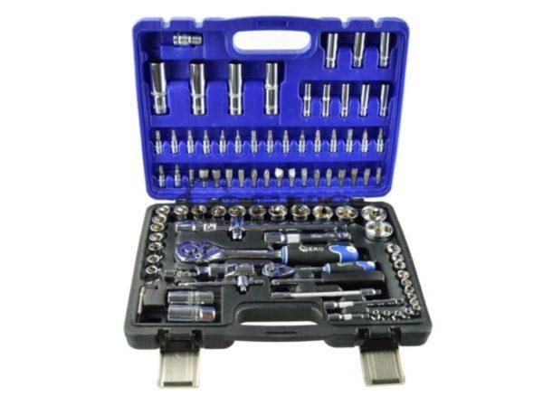 Geko 94 részes gola készlet, CrV acél, professzionális bőrönd G10100