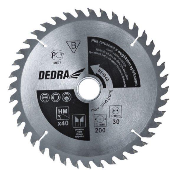 Dedra Karbidos körfűrészlap fához 250x40x16 H25040E