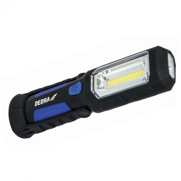 Dedra Ledes szerelőlámpa 3W COB LED + 1W LED, USB 230V és 12V tápegység L1022
