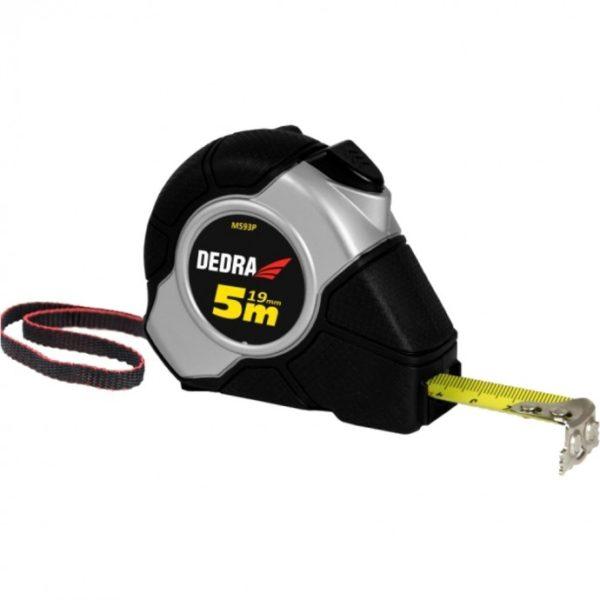 Dedra 3m/16mm mérőszalag, automata blokkolás, mágnes, gumi borítás, nylon, bliszter M3 M393P