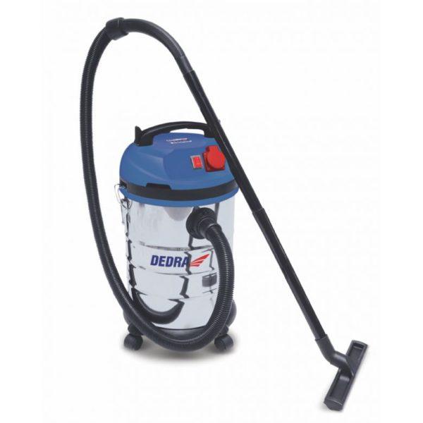 Dedra Vízszűrős porszívó 1400W, HEPA filter, 30l tartály, 1,5m tömlő, 4,5 tápkábel, tart DED6600