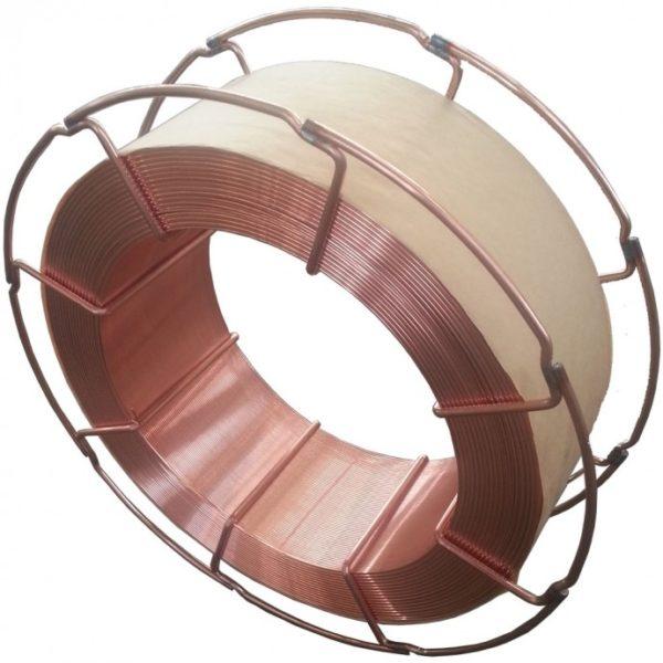 Dedra 0,8mm vastag réz bevonattal ellátott műanyag drót, acél orsón, 5kg DESMC081 DESMC0815A