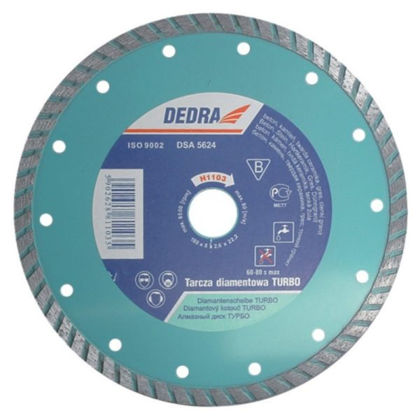 Dedra Turbó gyémánttárcsa2610mm/22,2 H1104