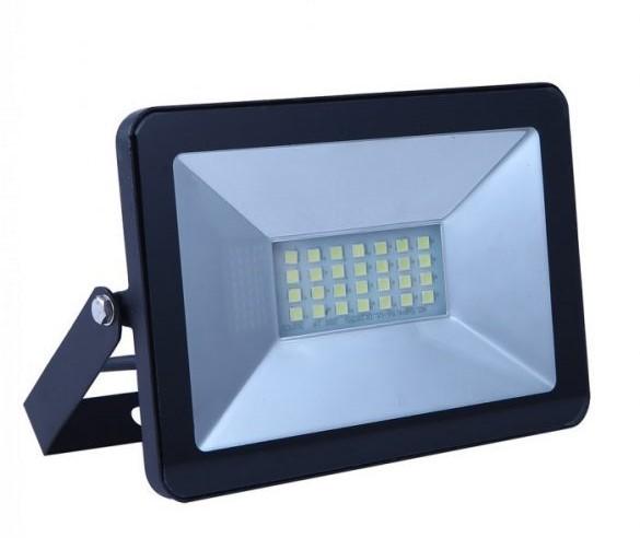 V-TAC 20W LED reflektor E-széria fekete 6400K 5948