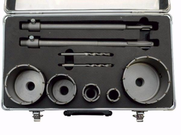Mar-pol SDS plus max koronafúró készlet dobozfúró betonhoz 9 db-os M22583
