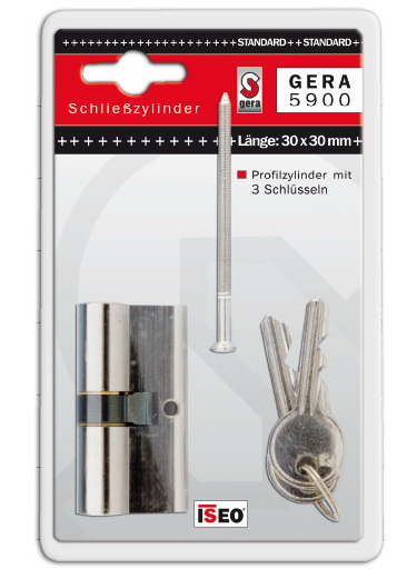 Cilinder betét, zárbetét STANDARD 21-21 mm, 3 kulcsal (F3) GERA5900-21-21