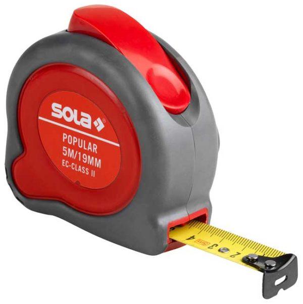 SOLA – Popular PP 5m x 19 mm Zsebmérőszalagok 50024301