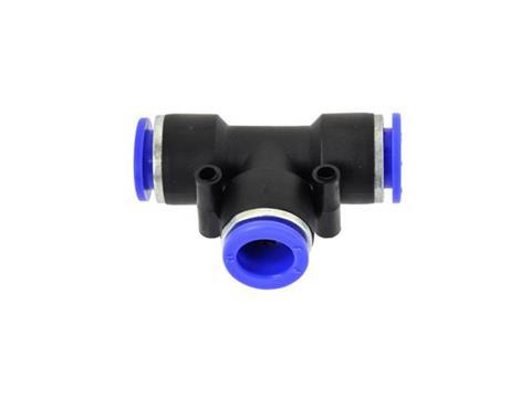 GEKO Levegős csatlakozó műanyag csőhöz, T-elágazó PU/PE 8mm G03042