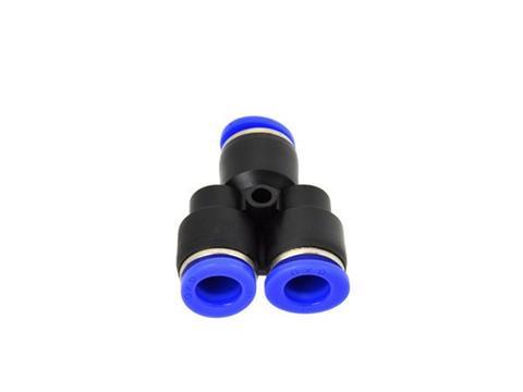 GEKO Levegős csatlakozó műanyag csőhöz, Y-elágazó PU/PE 10mm G03063